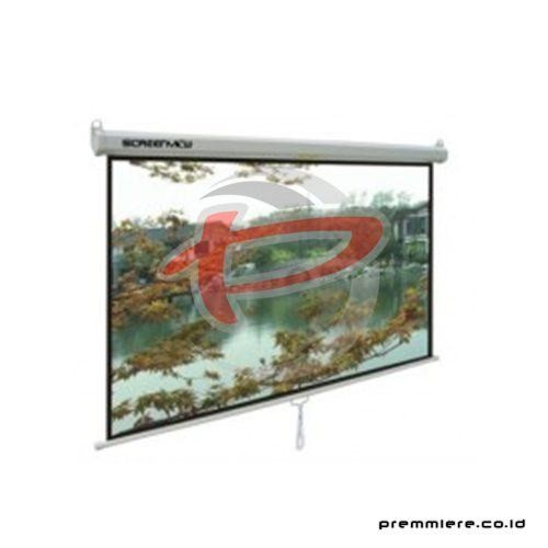 "Screen Projector Manual Wall Screen 84"" [MWSSV2121L]"